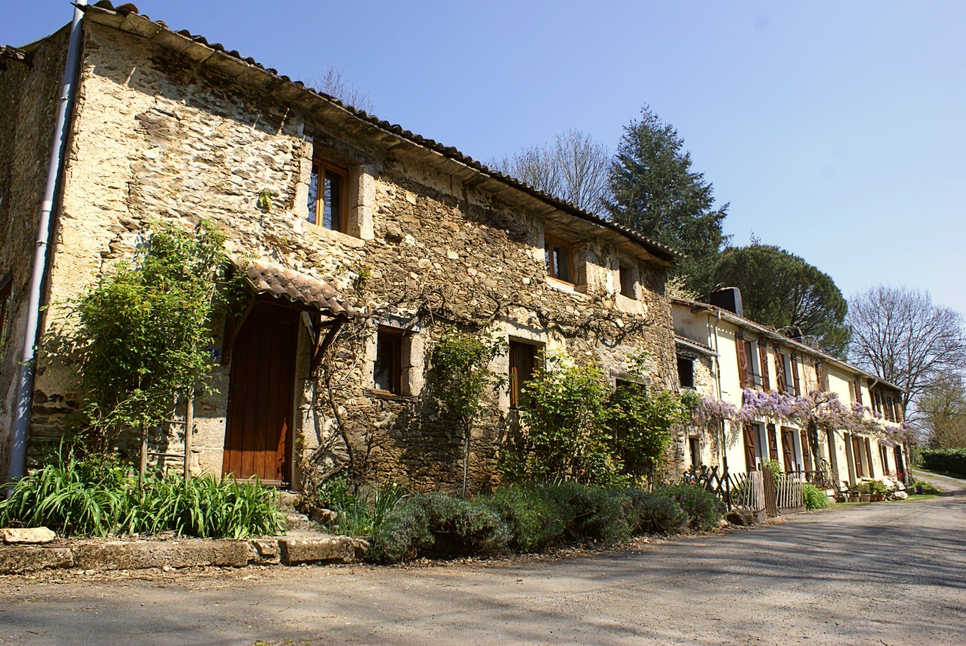 Charming Longère with 3 gites in superb valley setting
