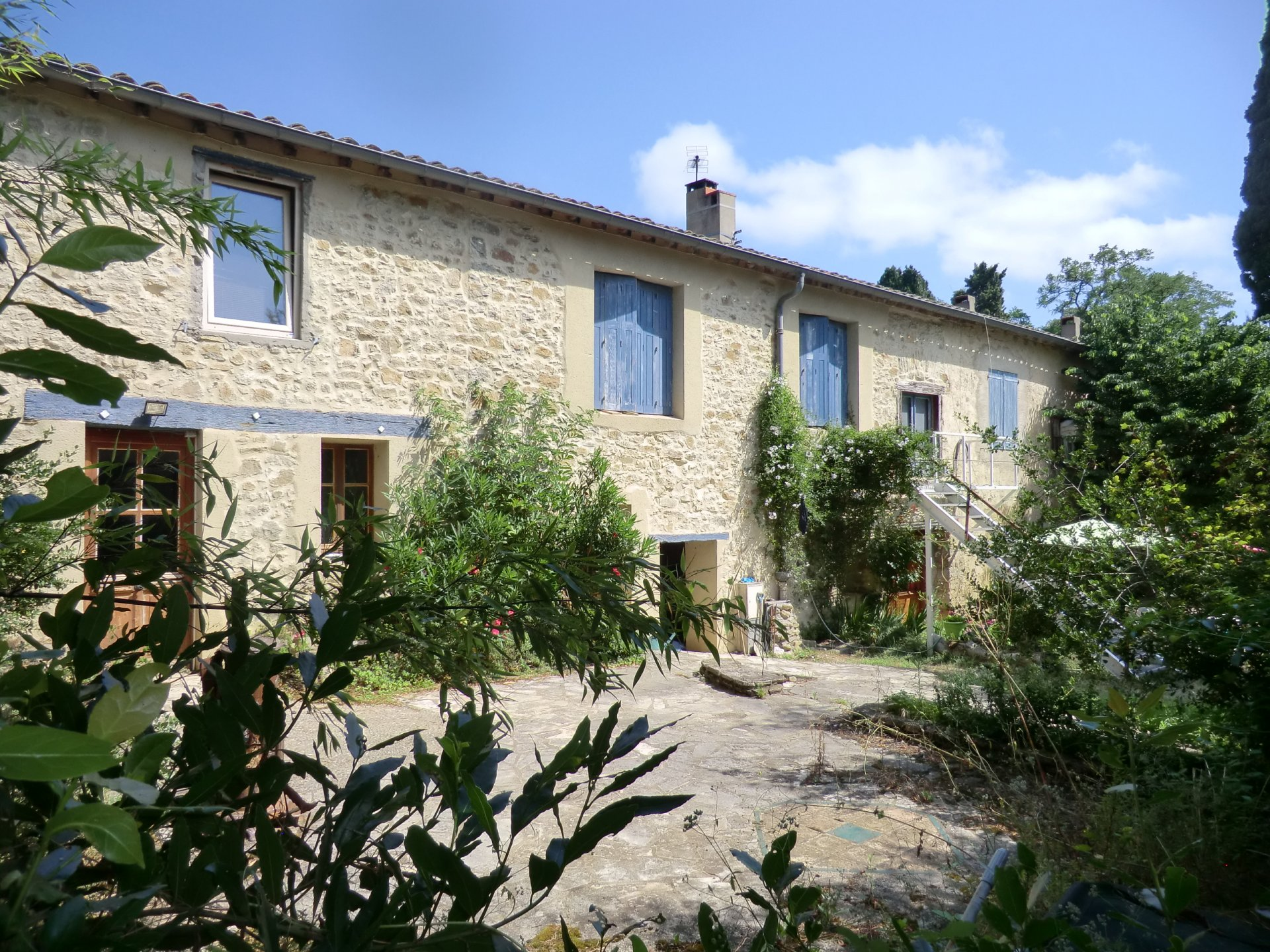 Stone built converted stables with 3 gites and B&B a stones throw from Carcassonne
