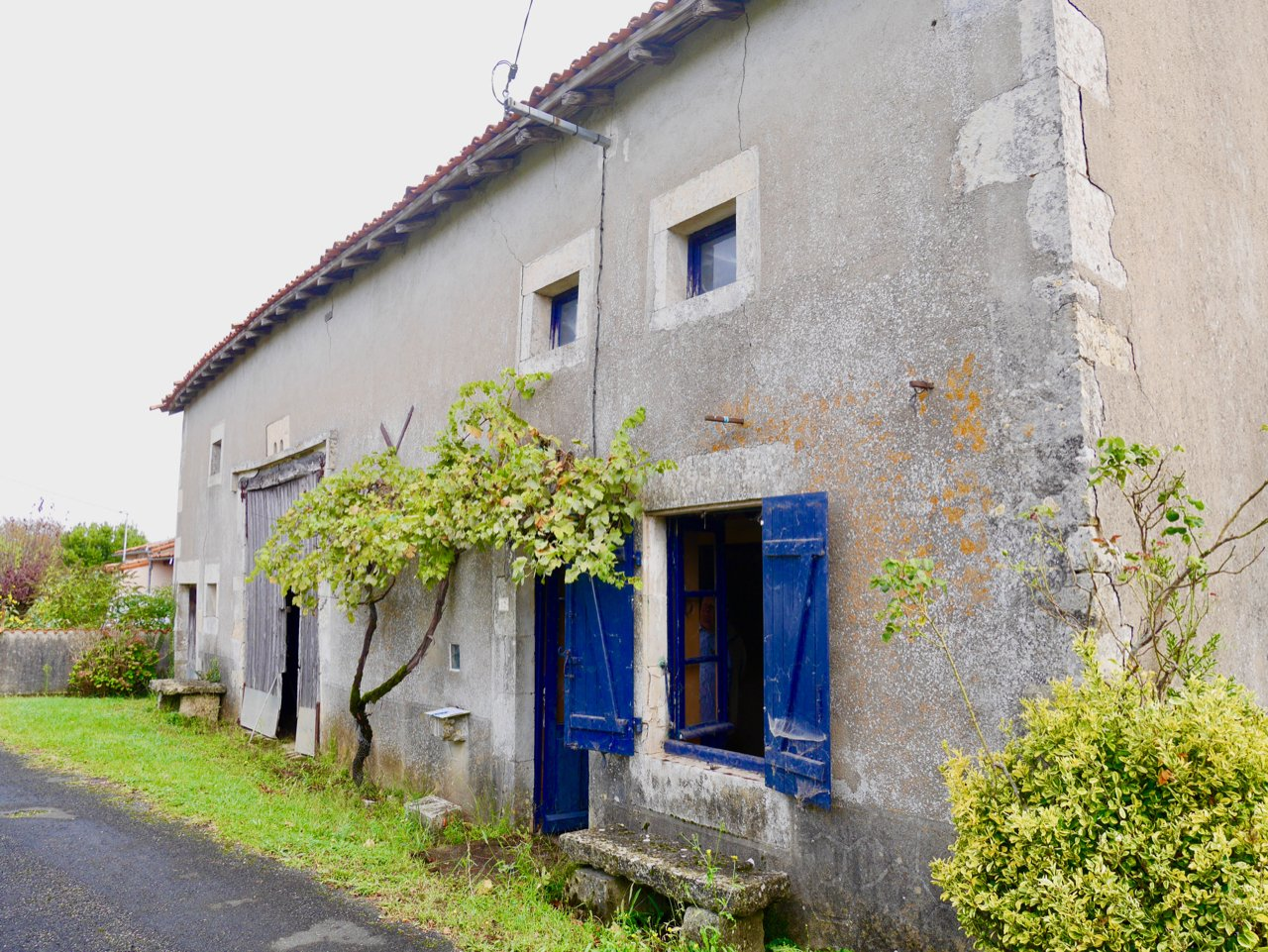 Small house with charming features in tranquil hamlet