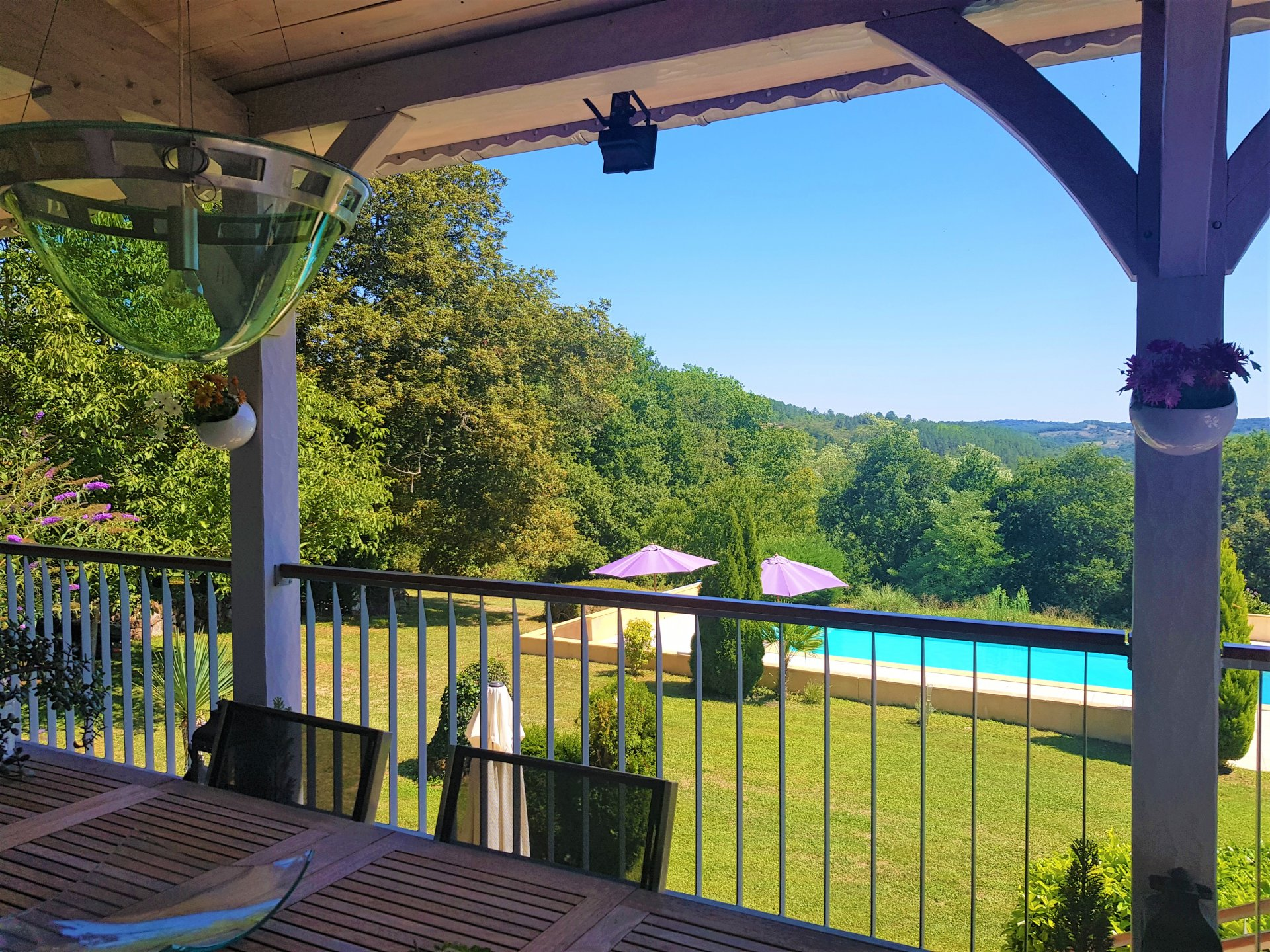 A MUST SEE - beautiful stone property with guest apartment, pool and stunning views!!