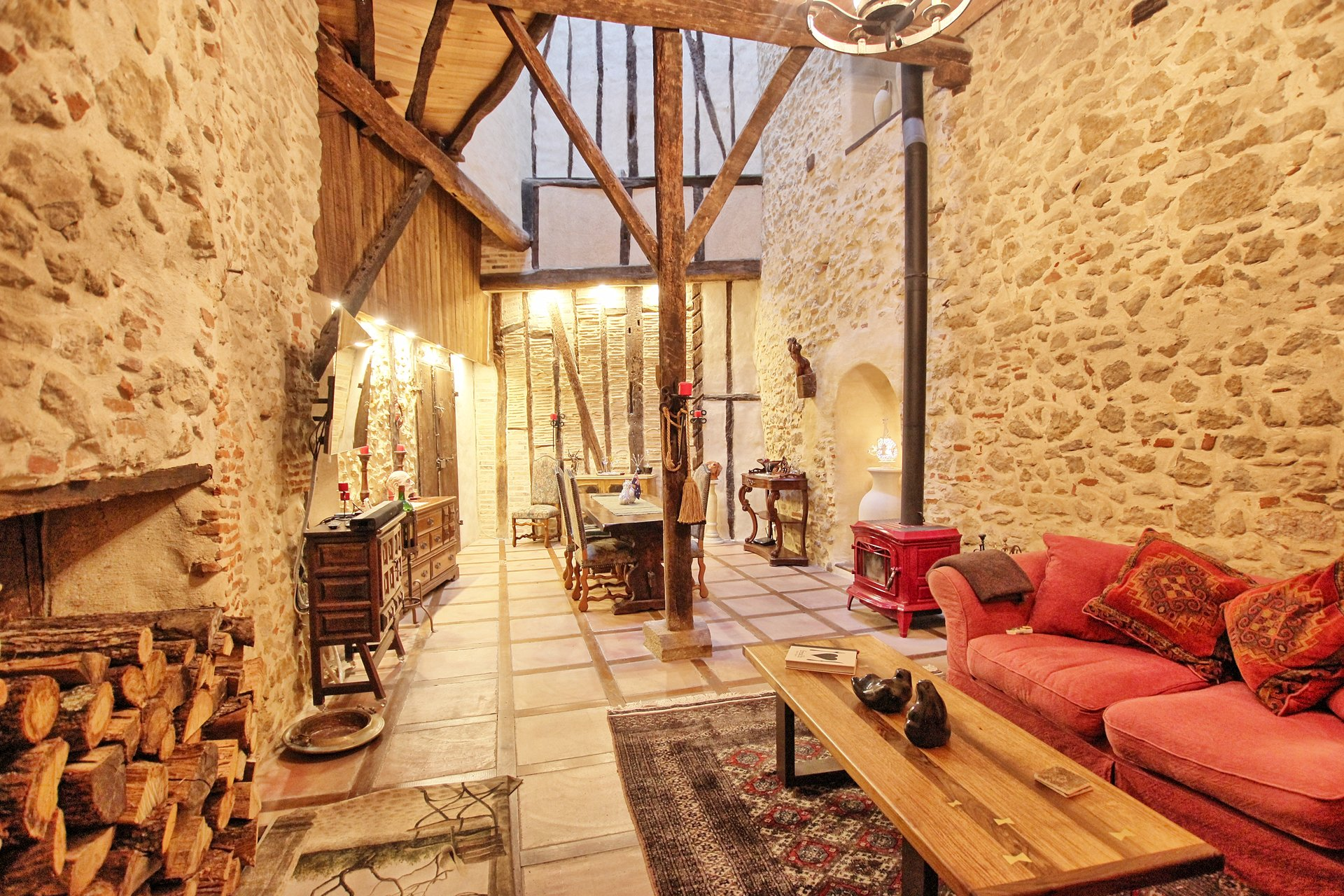 5 bedroom Maison de Maitre style with a light filled atrium in the centre of the house