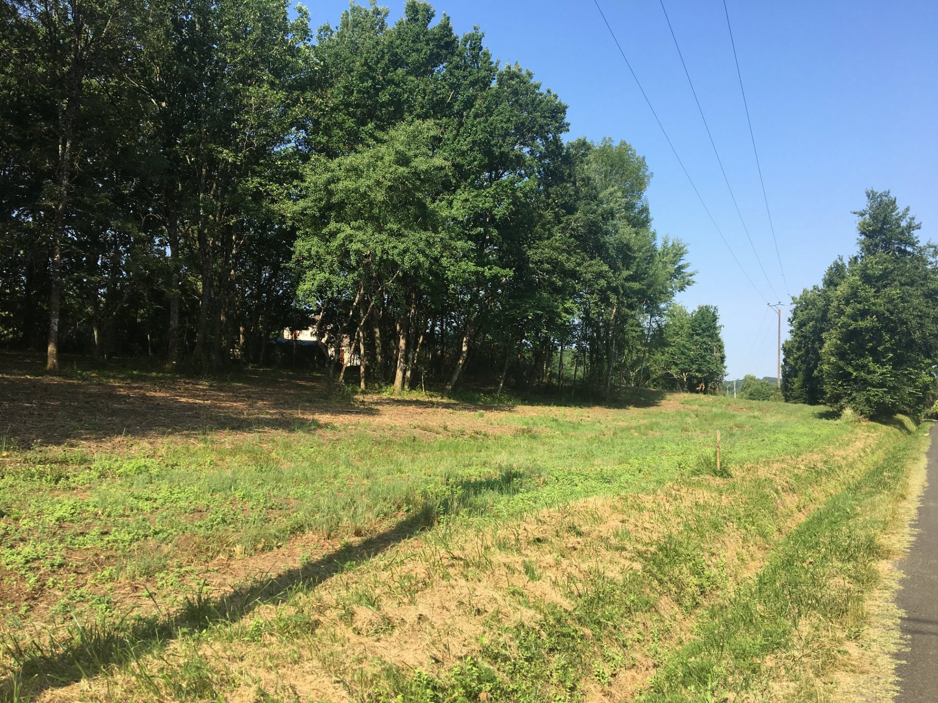 On the outskirts of a village with shops, 4405 m² building plot